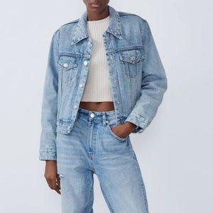 Zara TRF Vintage Denim Jacket